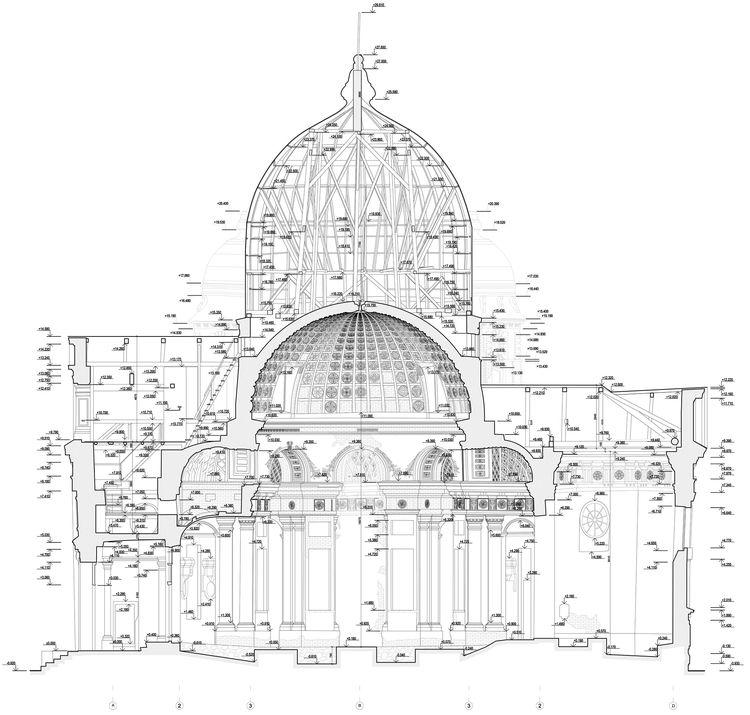 Разрез по церкви