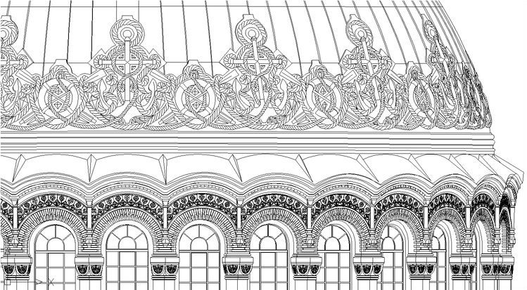 Fragment of the facade drawing