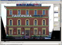 Technology of facades measurements by stereophotogrammetric method in AutoCAD
