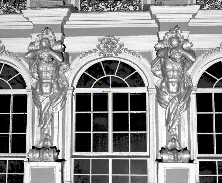 Трехмерная дискретная модель фасада дворца