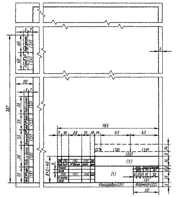 Форма 2. Основная надпись для текстовых конструкторских документов (первый или заглавный лист)