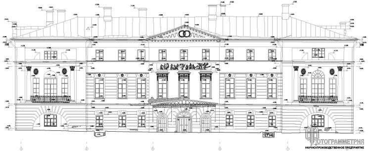 Архитектурные обмеры: Городская усадьба (дом Бобринских), конец ...