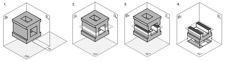 Построение горизонтального разреза