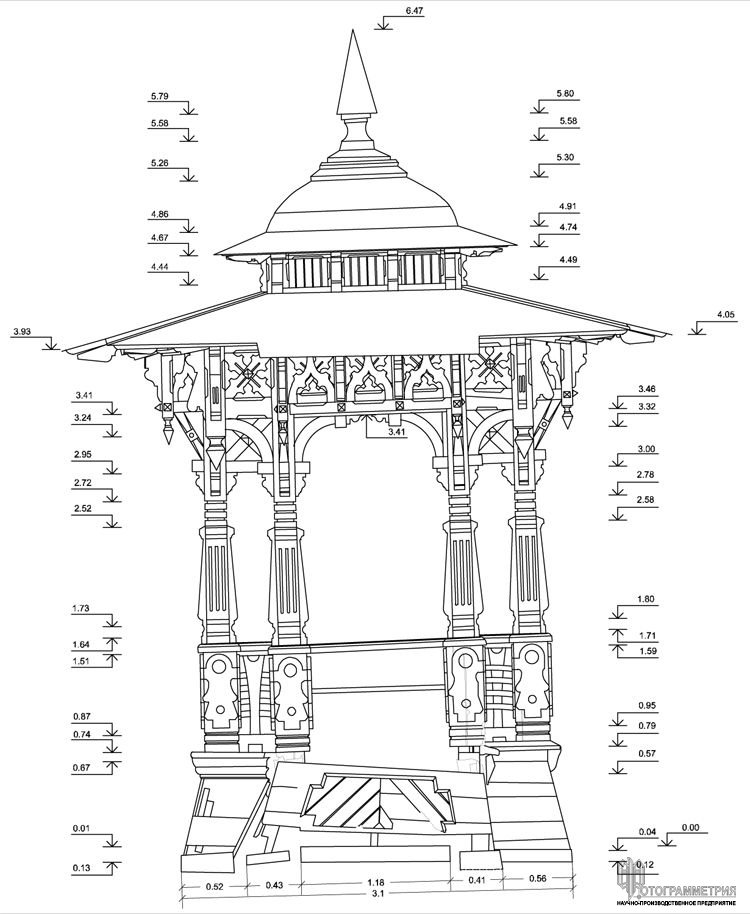 Архитектурные обмеры: Беседка Шаляпина