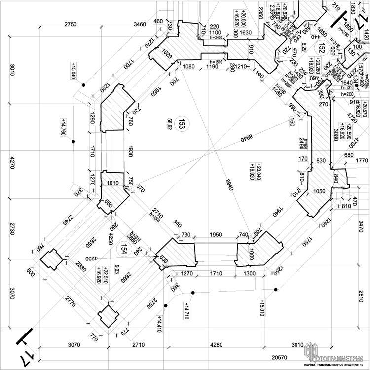 фрагмент чертежа плана Дворца