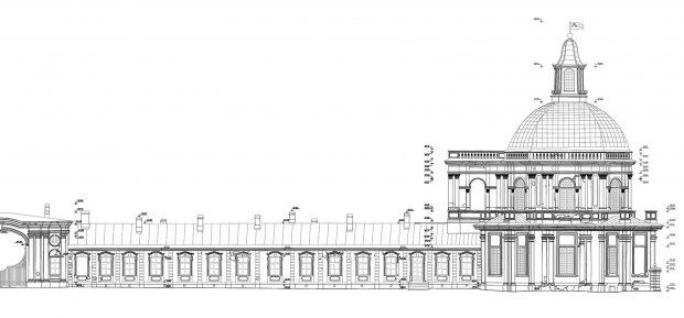 Архитектурные обмеры: Большой Меншиковский дворец