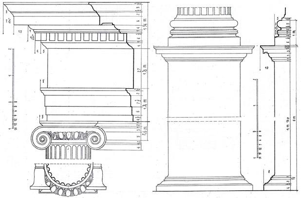 Построение плафона ионический ордер