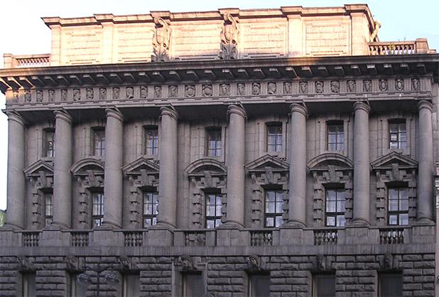 Обмерные работы:  Здание Русского торгово-промышленного банка