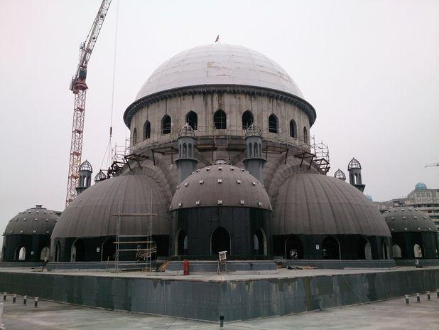 Обмерные работы:  Строящееся здание Мечети в г.Шали